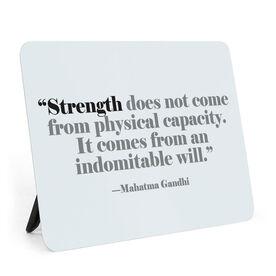 Running Desk Art - Strength Indomitable Will
