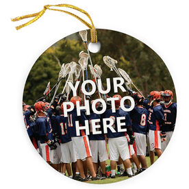 Lacrosse Porcelain Ornament Your Photo