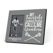 Guys Lacrosse Photo Frame - Grandma's Favorite Player