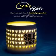 Soleil Home™ Running Porcelain Candle Holder - Sole Sister