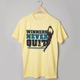 Football Tshirt Short Sleeve Winners Never Quit