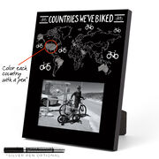 Photo Frame - Countries We've Biked Outline