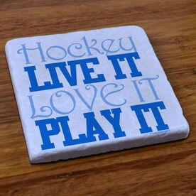 Hockey Stone Coaster Hockey Live It Love It Play It