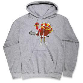 Guys Lacrosse Hooded Sweatshirt - Top Cheddar Turkey Tom