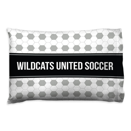Soccer Pillowcase - Personalized Team Ball Pattern