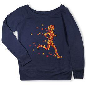 Running Fleece Wide Neck Sweatshirt - Leaf Runner