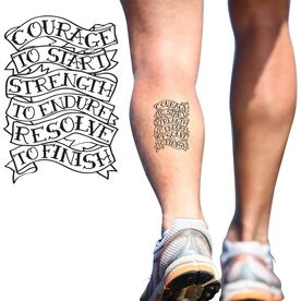 Courage to Start SportTATS Temporary Running Tattoo
