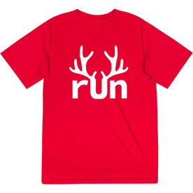 Men's Running Short Sleeve Performance Tee - Reindeer Run