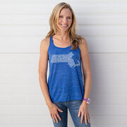 Flowy Racerback Tank Top - Massachusetts