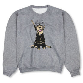 Hockey Crew Neck Sweatshirt - Hunter the Hockey Dog