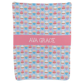 Personalized Baby Blanket - Cupcakes