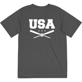 Baseball Short Sleeve Performance Tee - USA Baseball