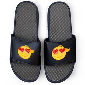 Volleyball Navy Slide Sandals - Heart Eyes