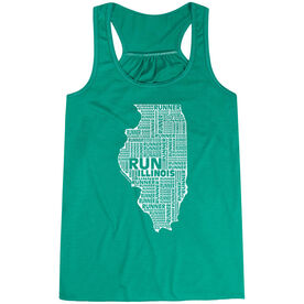 Flowy Racerback Tank Top - Illinois