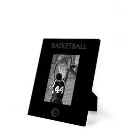 Basketball Engraved Picture Frame - Simple Basketball