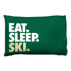 Skiing Pillowcase - Eat Sleep Ski