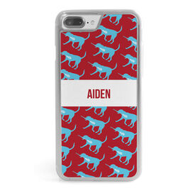 Guys Lacrosse iPhone® Case - Personalized Max The Lax Dog Pattern