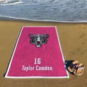 Cheerleading Premium Beach Towel - Custom Team Logo