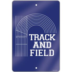 "Track and Field Aluminum Room Sign (18""x12"") Track and Field Lanes"