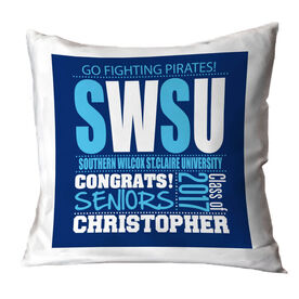 Personalized Throw Pillow - School Pride Graduate