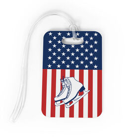 Figure Skating Bag/Luggage Tag - USA Figure Skater