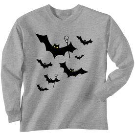Lacrosse Long Sleeve T-Shirt - Bats with Lacrosse Sticks