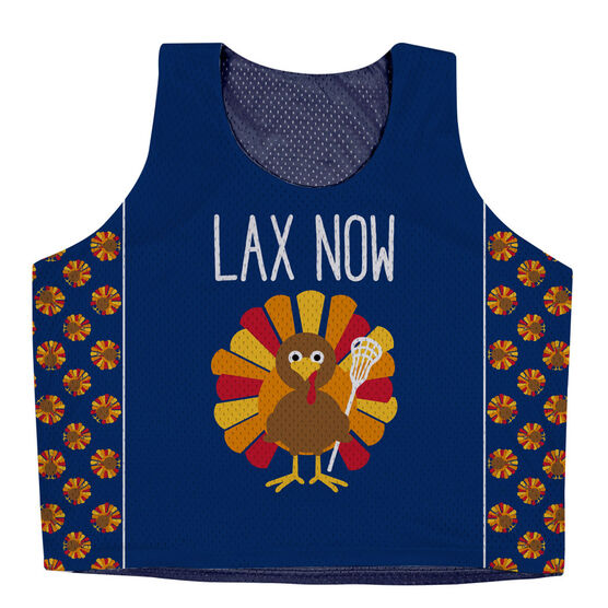 Girls Lacrosse Racerback Pinnie - Lax Now Gobble Later