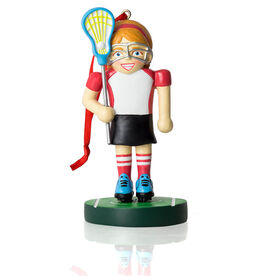 Girls Lacrosse Ornament - Lacrosse Player Nutcracker