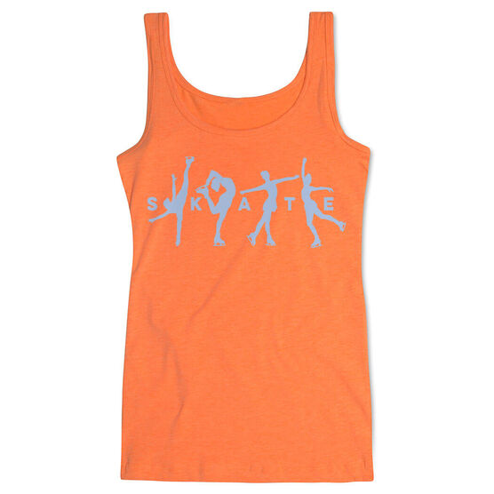 Figure Skating Women's Athletic Tank Top - Skate With Silhouettes