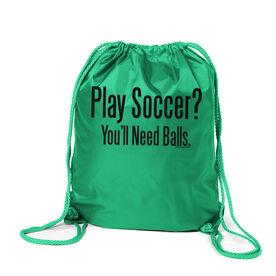Play Soccer? You'll Need Balls Sport Pack Cinch Sack