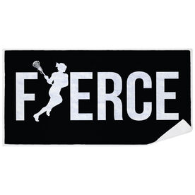Girls Lacrosse Premium Beach Towel - Fierce