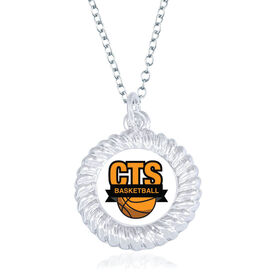 Basketball Braided Circle Necklace - Custom Logo