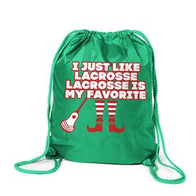Guys Lacrosse Sport Pack Cinch Sack - Lacrosse's My Favorite