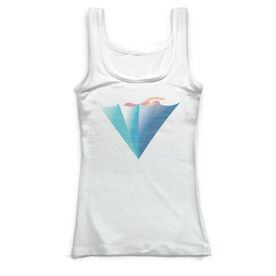 Swimming Vintage Fitted Tank Top - Swim Like A Girl
