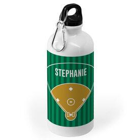 Softball 20 oz. Stainless Steel Water Bottle - Field