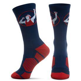 Wrestling Woven Mid-Calf Socks - Wrestler