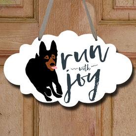 Run With Joy Decorative Cloud Sign