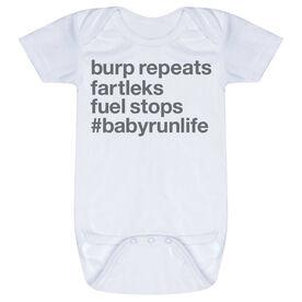 Running Baby One-Piece - Burp Repeats Fartleks Fuel Stops