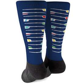 Crew Printed Mid-Calf Socks - Oar Pattern