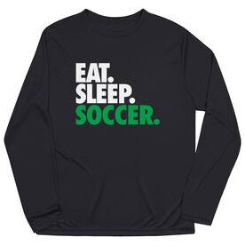 Soccer Long Sleeve Performance Tee - Eat. Sleep. Soccer.