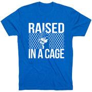 Baseball Tshirt Short Sleeve Raised in a Cage Baseball