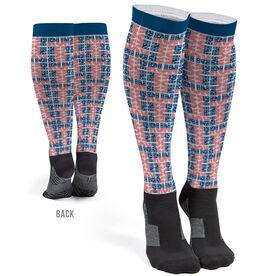 Running Printed Knee-High Socks - Run Patriotic