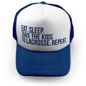 Lacrosse Trucker Hat - Eat Sleep Take The Kids to Lacrosse