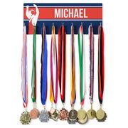 Wrestling Hooked on Medals Hanger - Personalized Wrestler