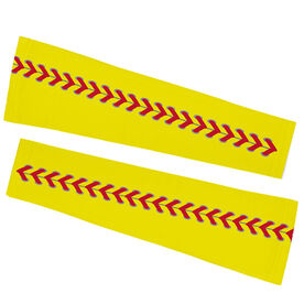 Softball Printed Arm Sleeves - Softball Stitches