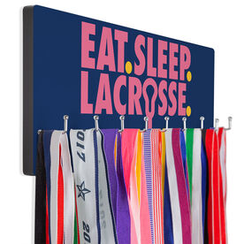 Girls Lacrosse Hooked on Medals Hanger - Eat Sleep Lacrosse
