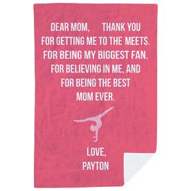 Gymnastics Premium Blanket - Dear Mom Heart (Girl Gymnast)