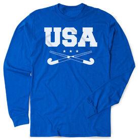 Field Hockey Tshirt Long Sleeve - USA Field Hockey