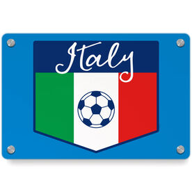 Soccer Metal Wall Art Panel - Italy