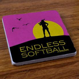 Endless Softball - Stone Coaster